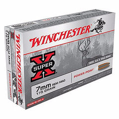 Winchester Super X 7mm Rem Mag 175 Gr Power Point 20 Rnd Box