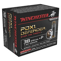Winchester Elite PDX1 38 Special +P 130 GR Bonded Jacket Hollow Point 20 Bx