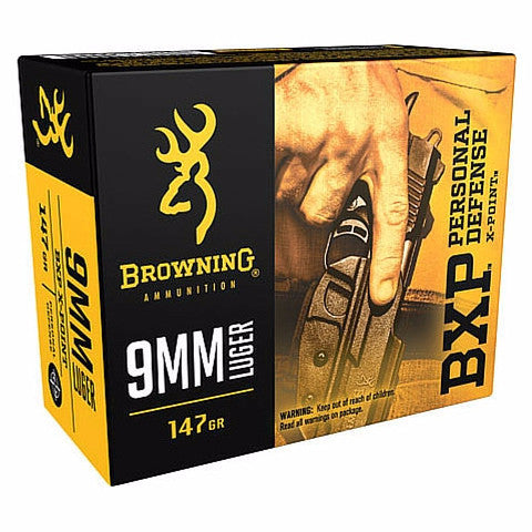 Browning BXP X-Point 9MM 147Gr HP 20 Rnd Box