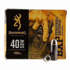 Browning BXP X-Point 40 S&W 180Gr HP 20 Rnd Box