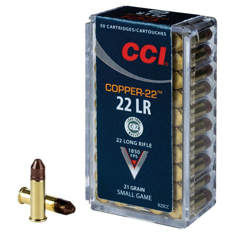 CCI 22lr Copper Lead Free Ultra High Velocity 21 Gr Hollow Point 500 Pack