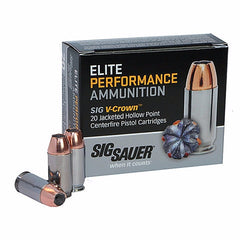Sig Sauer V-Crown 38 Super +P 125 Gr Jacket Hollow Point 20 Rnd Box