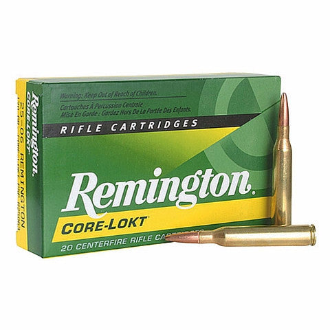 Remington Core-Lokt 25-06 Rem Pointed 120 Gr Soft Point PSP 20 Rnd Box