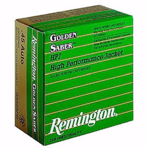 Remington Golden Saber 45 ACP 230 Gr Boat Tail Hollow Point 20 Rnd Box