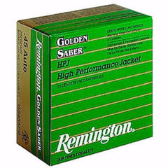 Remington Golden Saber 45 ACP 185 Gr Boat Tail Hollow Point 25 Rnd Box