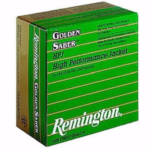 Remington 40 S&W 165 Gr Golden Saber BTHP (25)