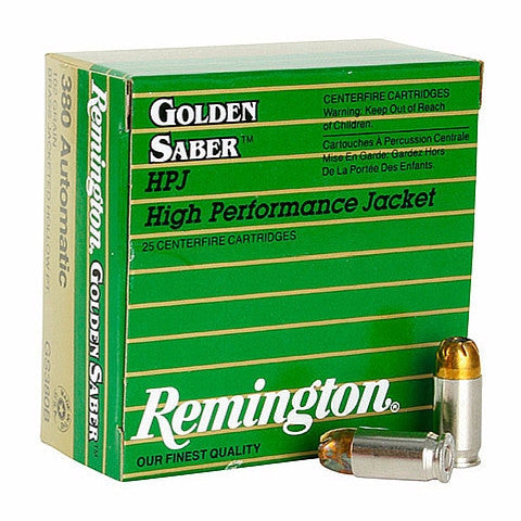 Remington 380 Auto 102 Gr Golden Saber BTHP (25)