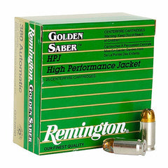 Remington Golden Saber 380 Auto 102 Gr Boat Tail Hollow Point BTHP 25 Rnd Box