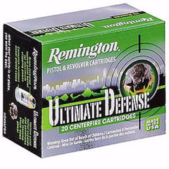 Remington Ultimate Defense 380 ACP 102 Gr Brass Jacket Hollow Point 20 Rnd Box