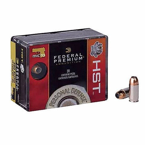 Federal Premium Personal Defense 9mm Luger 124GR HST 20 Pack P9HST1S