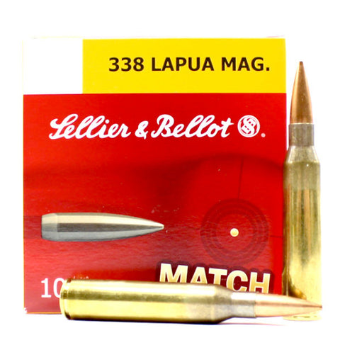 Sellier & Bellot Match 338 Lapua Mag. 300 Gr. BTHP 10 Rnd Box