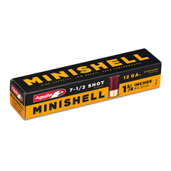 . Aguila 12 Gauge MINISHELL 1 3/4 Inch 7.5 Shot 20 Round Box