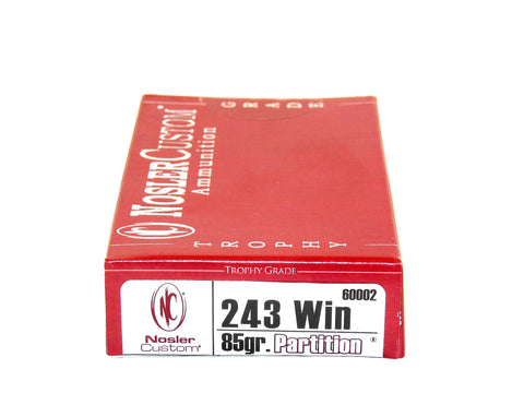 NOSLER 243 WIN 85 GR PARTITION (20)