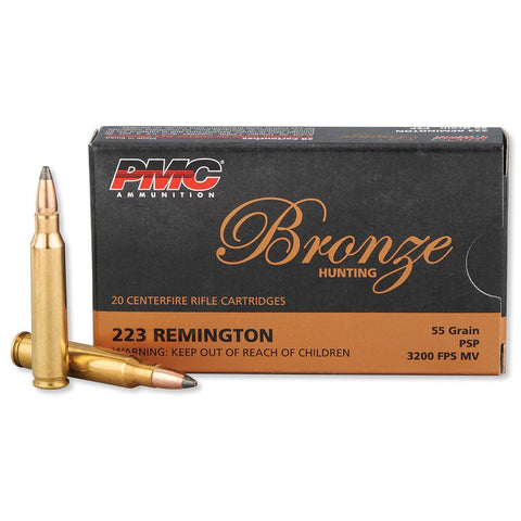 PMC Bronze 223 Brass Case SP 55 Grain (20)