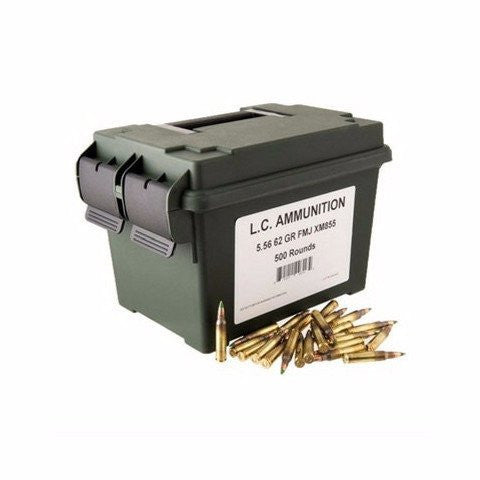 Lake City MIL SPEC M855 NATO 5.56 62 Gr Green Tip 500 Rnds  FMJ