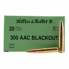 Sellier & Bellot 300 AAC Blackout 147 Grain FMJ 20 Round Box