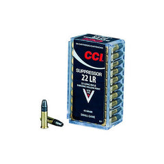 CCI Suppressor 22 Long Rifle SubSonic Hollow Point 45 GR 50 Rnd Box