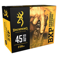 Browning Ammo BXP 45 ACP 230 GR Hollow Point 20 Rnd Box