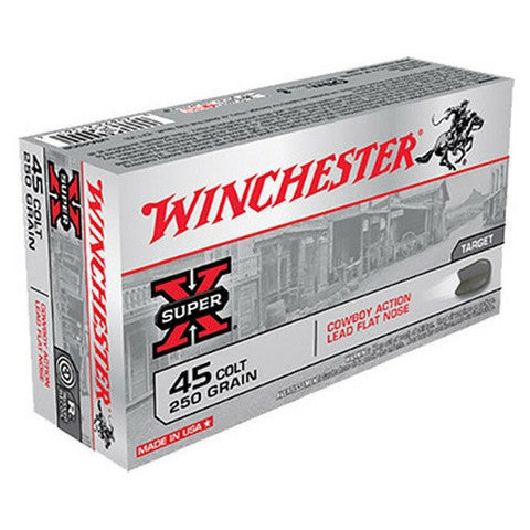 Winchester Ammo 45 Colt LC 250 GR Lead Flat Nose 50 Rnd Box