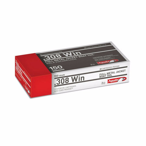 Aguila 308 Win Full Metal Jacket Boat Tail 150 Grain 20 Rnd Box