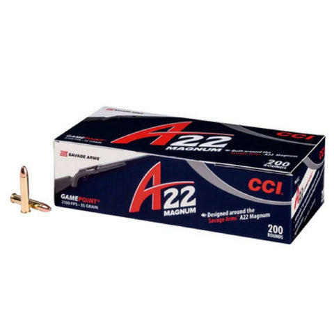 CCI A22 22 WMR Magnum 963CC 35 GR Jacketed Hollow Point 200 Pack