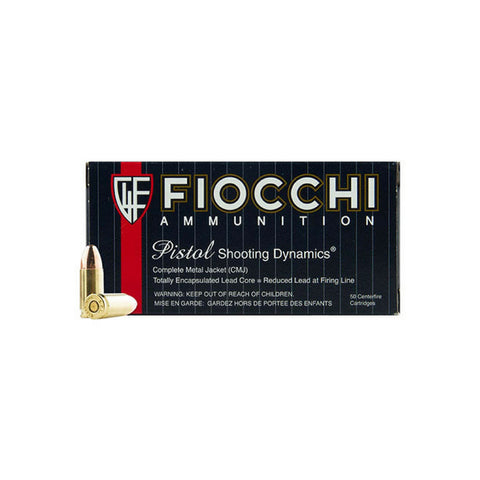 Fiocchi 9MM Luger 115 Gr Shooting Dynamics Copper Metal Jacket (50)