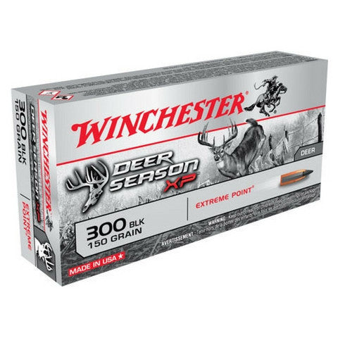 Winchester Deer Season XP 300 AAC Blackout 150 GR Extreme Point 20 Rnd Box