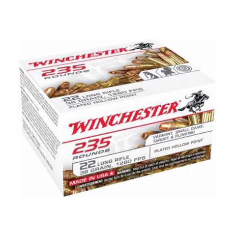 Winchester 22LR Copper Coated Hollow Point 36 Grain 2350 Round Case