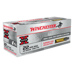 Winchester Super-X 22 WMR 45 GR Jacketed Hollow Point Subsonic 50 Round Box X22MSUB