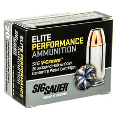 Sig Sauer 40 S&W 165gr Elite Performance V-Crown JHP (20)