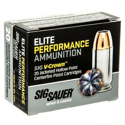 Sig Sauer Elite Performance 10mm 180gr V-Crown JHP 20 Round Box