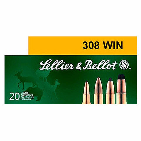 Sellier & Bellot Training 308 Win/7.62 NATO FMJ 147 Gr 20 Rnd Box