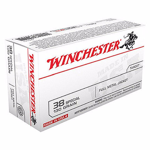 Winchester 38 Special 130 Gr FMJ 50 Rnd Box
