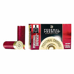 "Federal Premium 12 Gauge Personal Defense 2.75"" 9 Pellet 00 Buck Shot 5 Rnd Box"