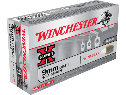 Winchester 9mm 147 Gr WinClean FMJ (50)