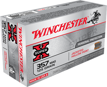 Winchester Super X 357 MAG 125 Gr JHP (50)