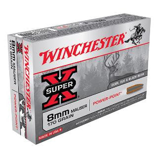Winchester X8MM Super-X 8mm Mauser 170 GR Power-Point 20 Rnd Box