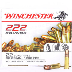 Winchester 22LR Copper Coated Hollow Point 36 Grain 222 Round Box