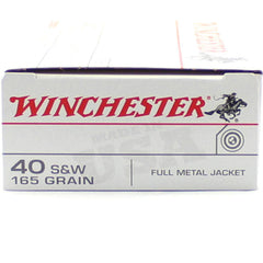 Winchester 40 S&W 165 Grn Full Metal Jacket 50 Pack