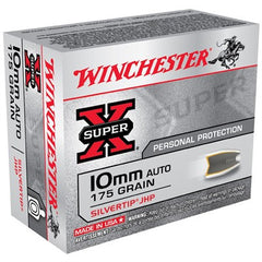 Winchester 10mm 175gr Super X Silvertip Hollow Point 20 Round Box