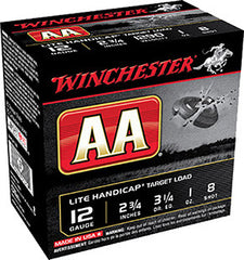 "Winchester  Target Loads 12 Gauge 2.75"" 1 oz 8 Shot 25 Round Box AAHLA128"