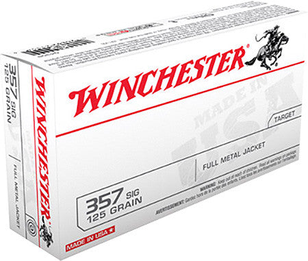 Winchester 357 Sig 125 GR Full Metal Jacket 50 Round Box