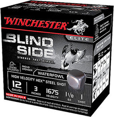"Winchester Blindside 12 Gauge 3.5"" 1-3/8 oz 2 Shot 25 Round Box SBS12LHV2"