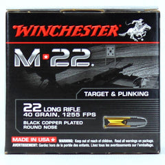 Winchester 22LR 40 Gr M-22Black Copper RN 1255 FPS (500)