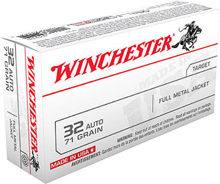 Winchester 32 ACP 71 GR Full Metal Jacket 50 Round Box