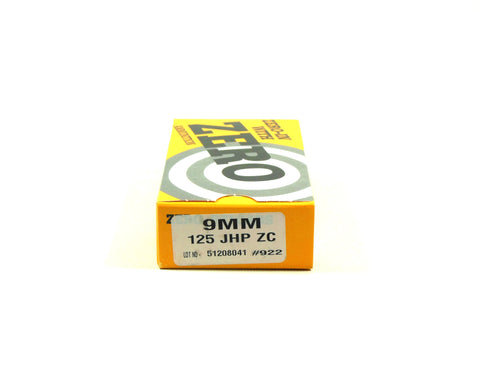 ZERO RELOAD 9MM 125 GR JHP (50)
