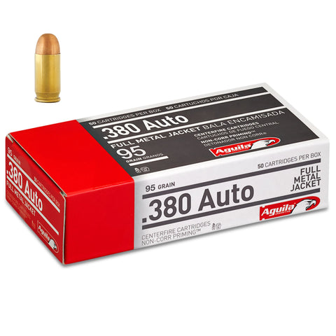 Aguila .380 Auto Full Metal Jacket 95 Grain 50 Round Box