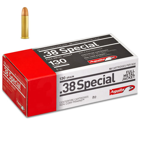 Aguila .38 Special Full Metal Jacket 130 Grain 50 Round Box