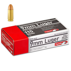 Aguila 9mm 115 Gr Brass Cased FMJ (50)