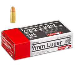 Aguila 9mm 124 Grain FMJ 50 Round Box